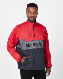 Hurley Siege Anorack Jacket Red