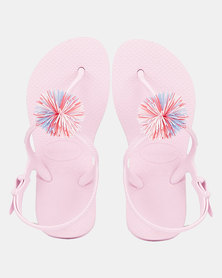 Havaianas Freedom Slim Pompom Flip Flop Pink