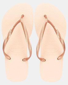 Havaianas Kids Slim Plain Rose Sandals Neutral