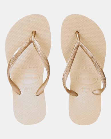 Havaianas Kids Slim Plain Sandals Gold