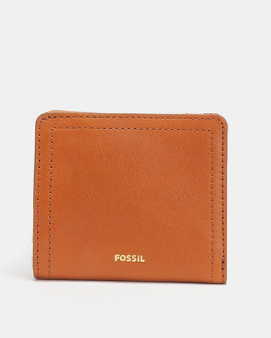 Fossil Logan Small Bi-fold Leather Tan