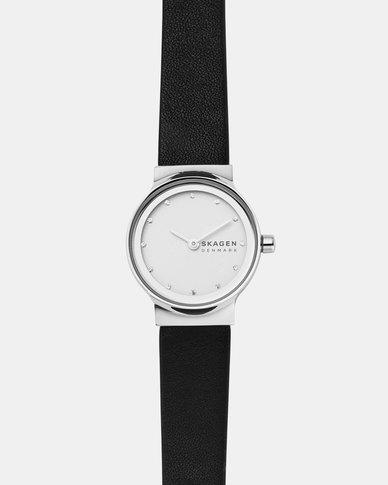Skagen Freja Leather Watch Black