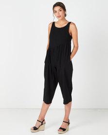 Utopia Wide Leg Jumpsuit Black