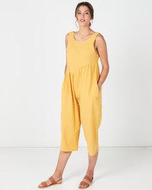 Utopia Wide Leg Jumpsuit Mustard