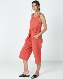 Utopia Wide Leg Jumpsuit Rust