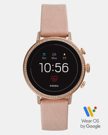 Fossil Q Venture Leather Watch Rose Gold