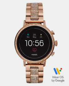 Fossil Q Venture SS Watch Rose Gold