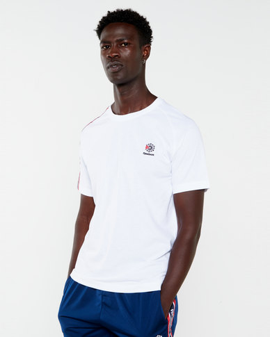 Reebok Mens Mens Cl Taped Tee White