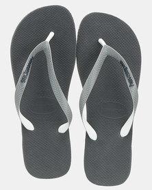 Havaianas Top Mix Flip Flop Charcoal Grey/White