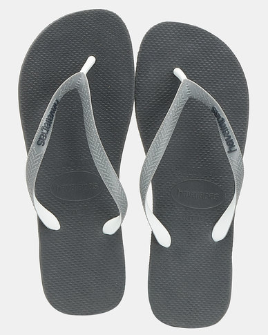 Havaianas Top Mix Flip Flop Charcoal Grey/White