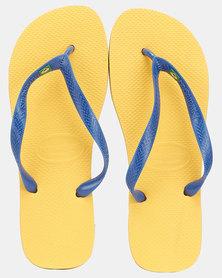 Havaianas Brazil Flag Flip Flop Banana Yellow/Blue