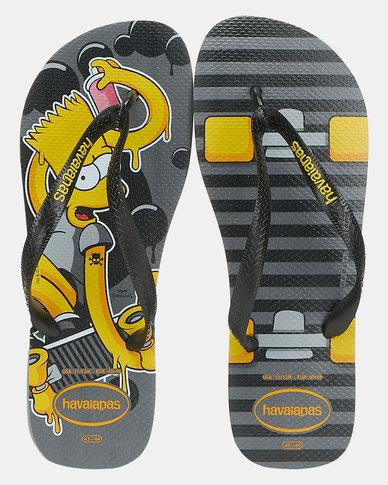 Havaianas Simpsons Flip Flops Steel Grey