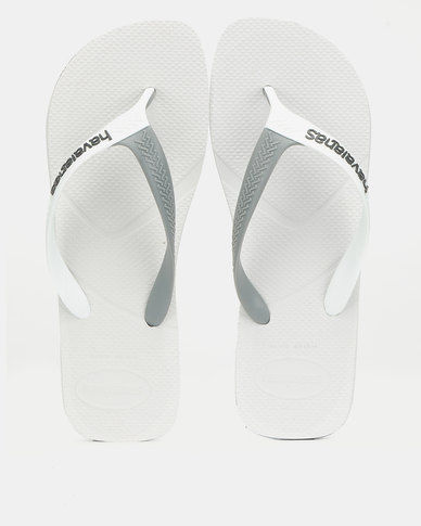 Havaians Casual Two Tone Strap Flip Flop White/Grey