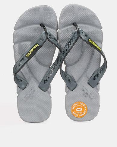 Havaianas Power Flip Flops Steel Grey/ Grey