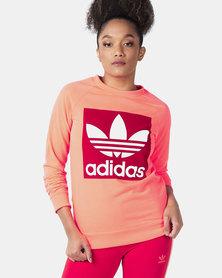 adidas Originals Trefoil Hoodie Peach