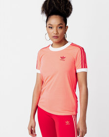 adidas Originals 3 Str Tee Red
