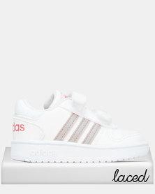 adidas Performance Infants Hoops Mid 2.0 Sneakers Dark White/Coral