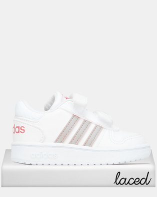 adidas Performance Infants Hoops Mid 2.0 Sneakers Dark White/Coral