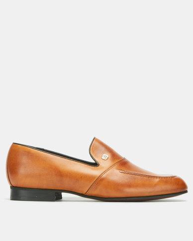 John Drake Slip On Shoes Tan