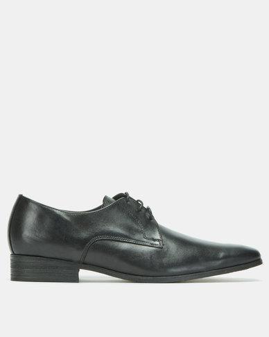 John Drake Cow Calf Lace Up Shoes Black
