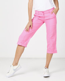 Utopia Basic Cotton Straightleg Pants Pink