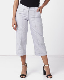 Utopia Basic Cotton Straightleg Pants Light Grey