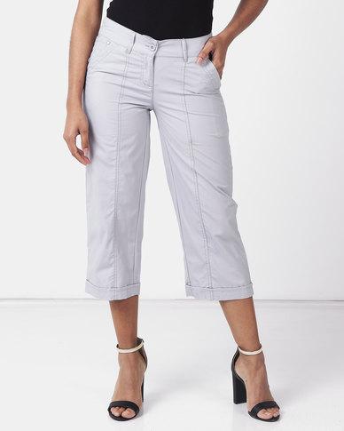 Utopia Basic Cotton Straightleg Pants Light Grey