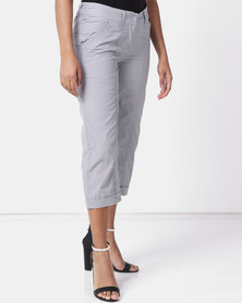 Utopia Basic Cotton Straightleg Pant Grey