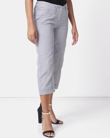 Utopia Basic Cotton Straightleg Pant Grey