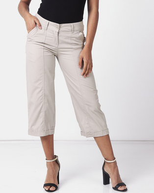 Utopia Basic Cotton Straightleg  Light Beige