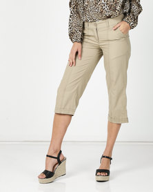 Utopia Basic Cotton Straightleg Beige