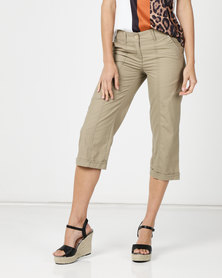 Utopia Basic Cotton Straightleg Dark Beige