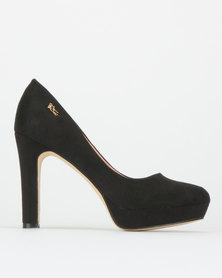 Plum Leonie Leopard Courts Black