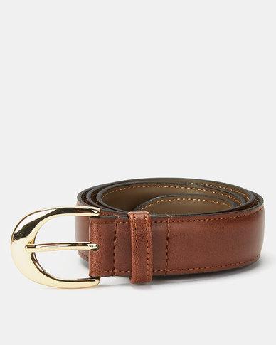 Paris Belts Leather Small Western Buckle Belt Tan