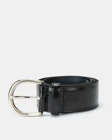Paris Belts Leather Regular Belt Black