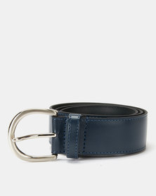Paris Belts Leather Regular Belt Navy