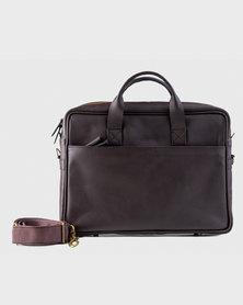 Zvitang Cambridge Laptop Bag Brown