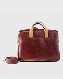Zvitang Cambridge Laptop Bag Mahogany