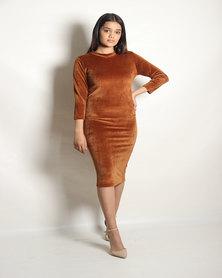 INFIN8TI Rust Midi Dress