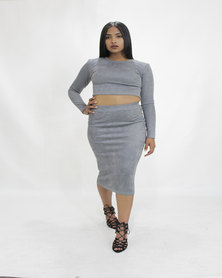 INFIN8TI Suede Skirt
