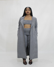 INFIN8TI Suede Trench Jacket
