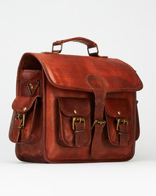 "Buyitall.today Leather Messenger Bag 3"""