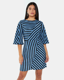 AX Paris Stripe Mini Dress Blue