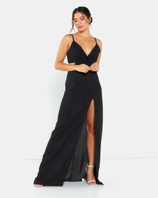 AX Paris Cut Out Maxi Dress Black