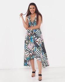 AX Paris V Neck Midi Dress Multi