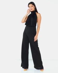 AX Paris High Neck Backless Jumpsuit Black