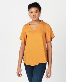 Revenge Side Button Detail Top Yellow