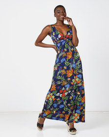 Revenge Maxi Dress Multi Navy