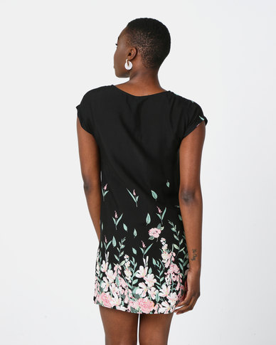Revenge Tshirt Printed Dress Multi Black