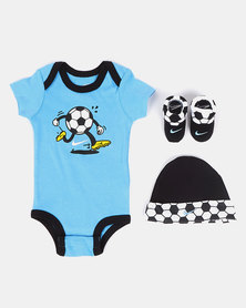 Nike NHB Swoosh Sport Ball Babygrow Set University Blue
